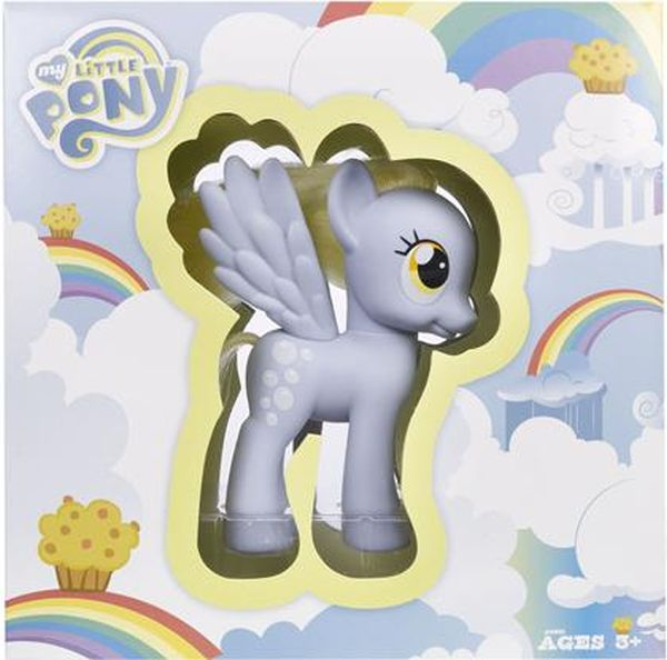 Plastic toy pony in packaging with the logo 'My Little Pony.'