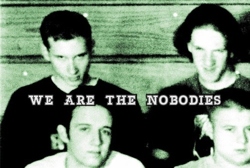 A Columbine class of '99 photo zoomed in on Eric and Dylan with the words, 'We are the Nobodies.'