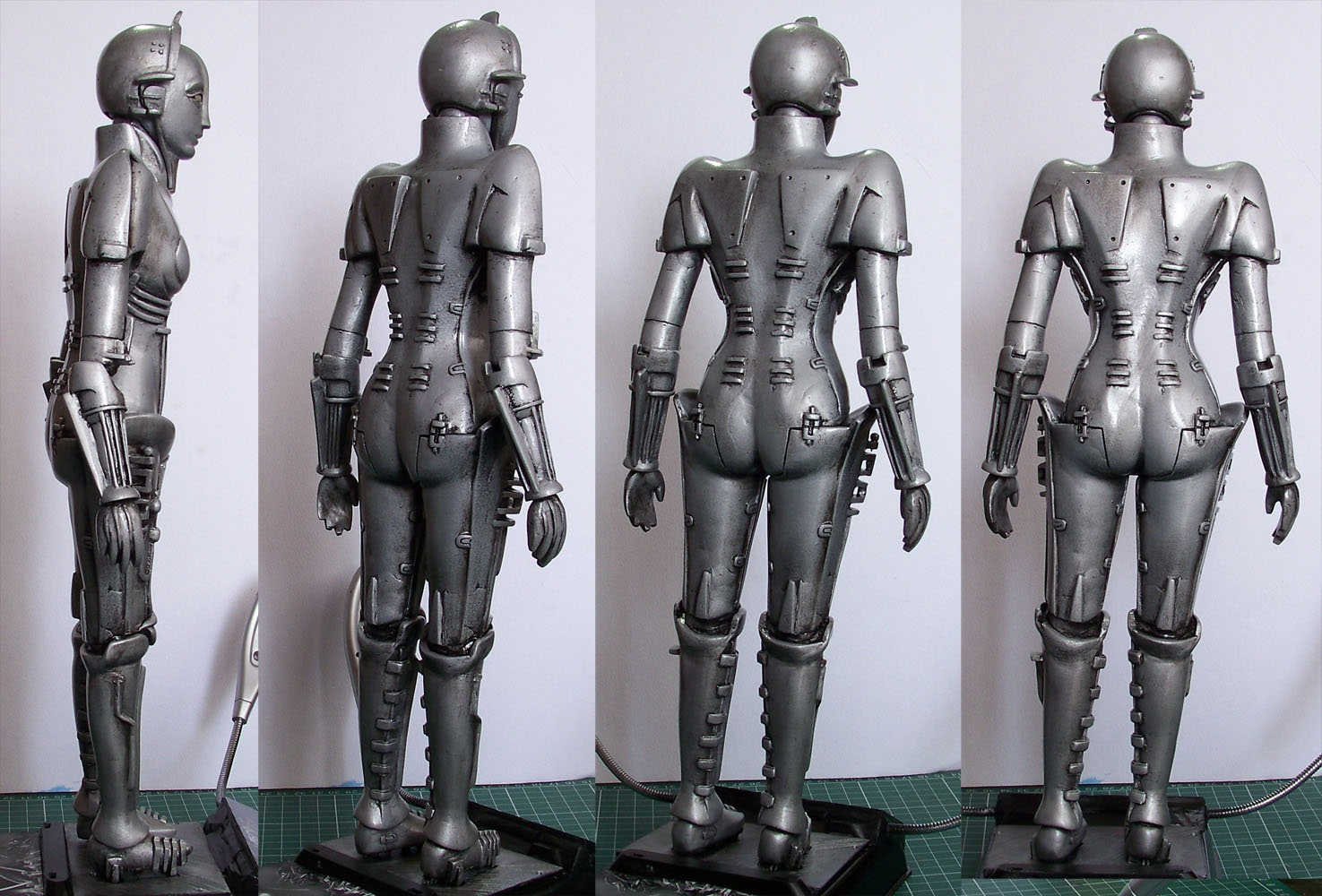 Rebuilt Robot from Fritz Lang's 1927 film Metropolis after additional research.