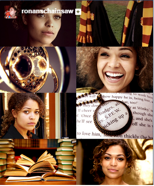 Hermione Granger fan cast (based on the Harry Potter series by J. K. Rowling), featuring actress Antonia Thomas.