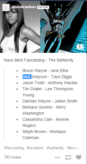 Batman fan cast, featuring actress Amerie Rogers.
