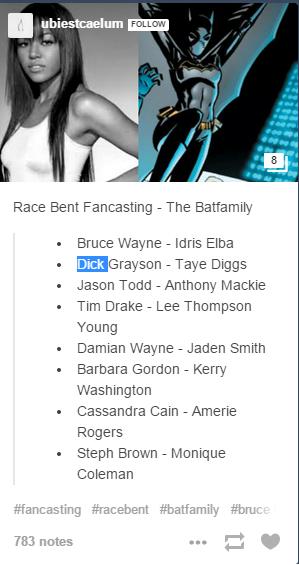 Batman fan cast, featuring actress Amerie Rogers.